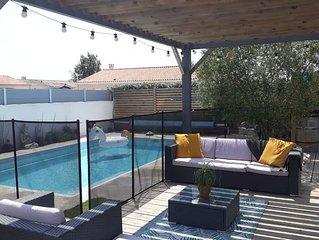 Maison récente avec piscine chauffée 29C°