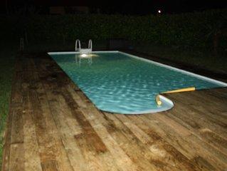 maison avec piscine à 10 km de la plage