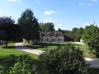 Superbe maison de vacances avec 22 ha de parc a l'entree du parc de Chambord
