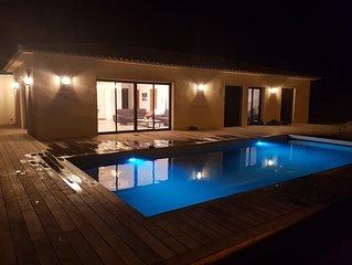 Villa-Ô-Bonifacio  Conviviale, Familiale avec piscine chauffée