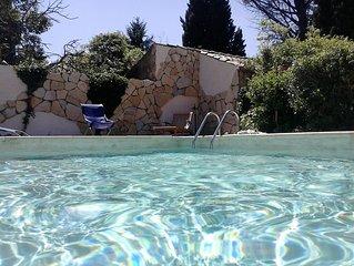 Maison climatisee avec piscine privee