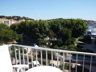 Port-vendres - collioure : 2 pieces tout confort  55 m2 4-pers vue port mer