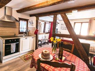 Gîte studio cosy, le Muscat dans le centre de Ribeauvillé en Alsace