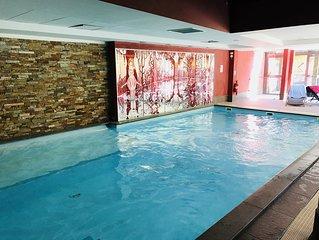 Risoul 1850 luxueux T5 duplex 8/9p piscine sauna résidence Antarès ex MMV