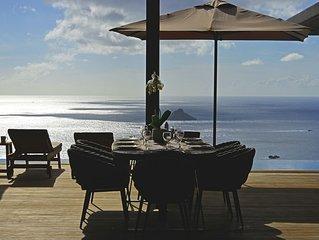Villa Edunia, vue mer, proche Gustavia.