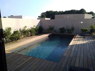 Magnifique villa avec piscine chauffee a 1 km de la plage de Cala Rossa