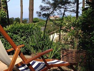T2Bis Côte Basque Anglet, Vue sur mer, 400m plage, terrasse-internet&TV-parking