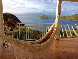 Très beau haut de villa avec vue magnifique sur le pain de sucre.