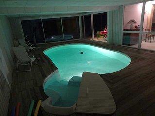Gite en creuse avec piscine interieure chauffee toute l'annee et SPA