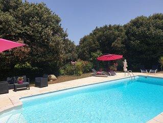 Maison de vacances a Montolieu, 15 mn de Carcassonne - Piscine