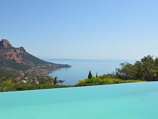 Villa 14 personnes, piscine et vue mer