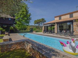 VILLA + logement insolite avec piscine chauffée