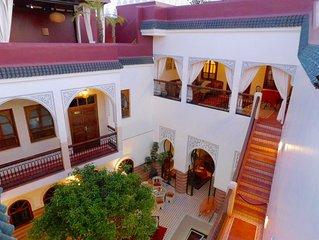 Magnifique Riad en Exclusivité à Marrakech, Riad La Perle Rouge