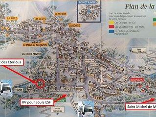 Magnifique Chalet de 10 pers. à 30m du Télécabine & pistes, dans centre Valloire