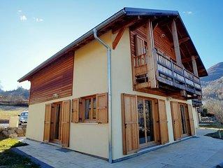 Chalet 4****-135 M²- 12 personnes à Risoul Village-Vue exceptionnelle