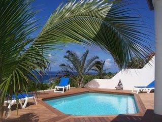 Cottage de charme ALIZE belle vue mer dominante avec piscine + jardin