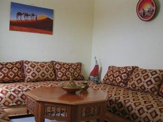 Bel et récent appartement T3 meublé marocain proche médina et au calme