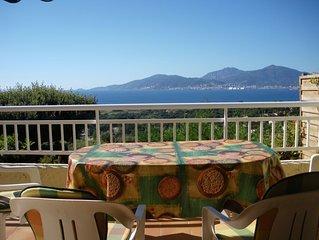 Vue panoramique sur le golfe d'Ajaccio