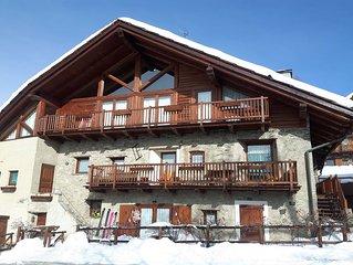 Appartement avec 9 lits et un grand balcon cote Sud