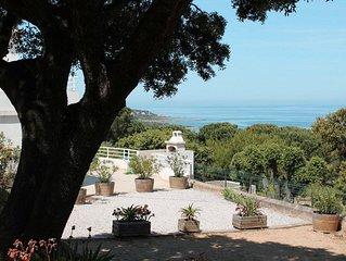 A Corbara,  bas de villa -  belle vue mer - proche de la plage de Bodri.