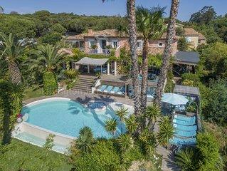 Villa 6ch vue mer plage a pieds piscine chauffée classée 4 étoiles Jacuzzi