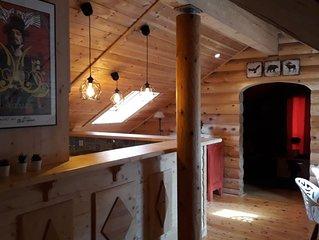 chalet cosy avec sauna