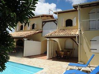 1,2km mer, Appartement de 2 chambres dans petite résidence avec piscine