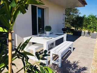 Maison tout confort 4* resid prive piscine, climatisee