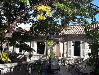 Belle maison de village avec jardin et jacuzzi, au calme, proche d'avignon