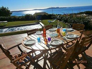 Villa ensoleillée superbe vue mer avec SPA de nage sur le Mont des Oiseaux