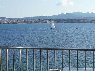 Appt T3 magnifique vue en front de mer, calme 5 pers à 5 mn du port et commerces