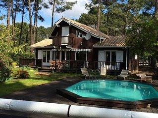 Charmante Villa familiale dans la pinède - Lac Lacanau 50m - Piscine privée-