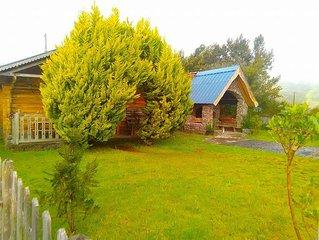 Jolie chalet et bungalow sur la route du volcan, endroit calme et reposant...