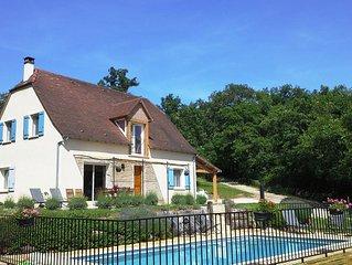 Location maison à Loubressac Nord Lot (46) 8à10 personnes avec piscine privée