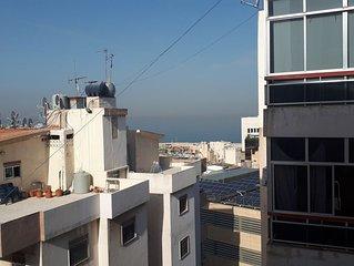 Appartement avec une magnifique vue mer à Kaslik proche Usek