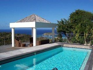 Cottage de charme STEVE, très belle vue mer dominante avec piscine et jardin.