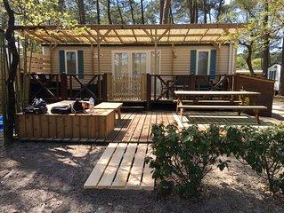 Mobil home cosy situé à Lacanau-Océan