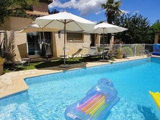 Maison de charme avec piscine plein soleil sur la Côte d'Azur