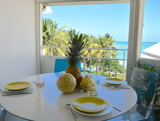 Rare! French Caribbean Duplex, acces direct plage et vue mer (1 a 5 pers.)