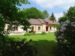 Gite/Maison campagne Normandie 2h de Paris 4 ch.13 Pers.1h30 mer - calme -vert-