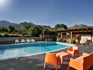 T2 ALBITRU dans une villa corse, tout confort, au calme, avec piscine.