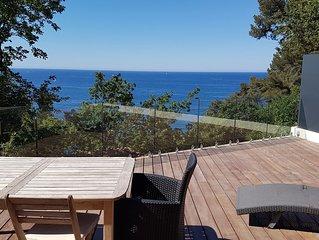 Chalet 'LITTLE PARADISE' VUE MER 1er rang - grande terrasse - plain pied