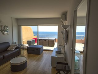APPARTEMENT T2 STANDING CAP NEREE TERRASSE VUE MER CLIM WIFI PARKING PISCINE