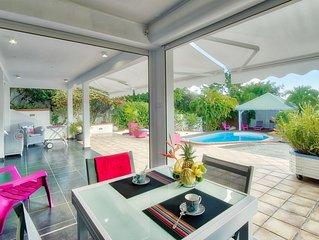 JOLIREVECREOLE : Appartement standing, 4**** entre mer et campagne avec piscine