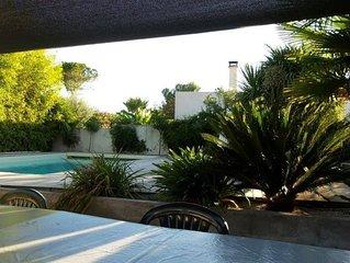 Charmante villa avec piscine privée à 7km des plages