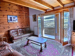 SKI-IN / SKI-OUT Les Crosets grand appartement avec 3 chambres, wifi, parking in