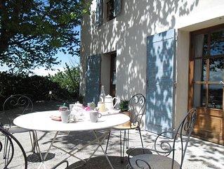 Mas  pour 5 et sa piscine privée près de Vaison La Romaine, Orange,  Mt Ventoux