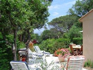 Vacances à Gassin proche St Tropez maison climatisée dans parc privé