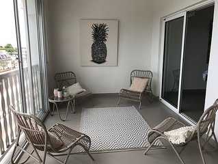 Grand appartement a Tamarin, Ile Maurice (free wifi / 6 personnes)A/C