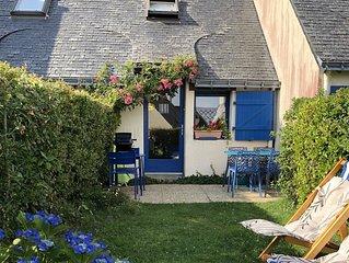 La petite maison bleue de la plage